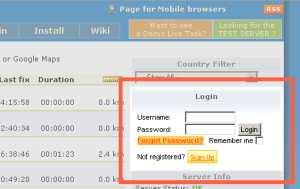 Login - Register Box